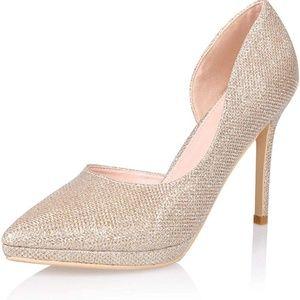 AIIT Shoes - ⏬3/$15 - NIB! Gold Shimmery Stiletto High Heels
